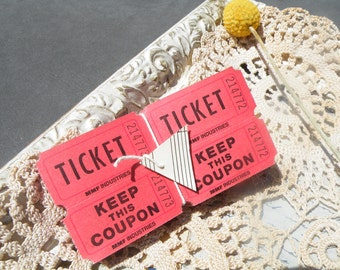 50% off this item, enter LOVE99 at checkout, Red Carnival Tickets, Lot of 50, Ephemera Tickets, Red, Tickets, Party Tickets, Scrapbooking,