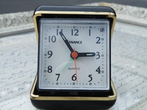 Vintage Quartz, Travel Clock,  50% off enter LOVE99 at Checkout