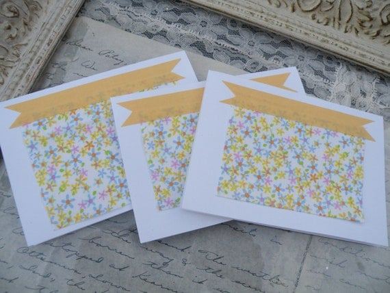 50% of this item, enter LOVE99 at checkout.  Simple Spring Note Cards, Set of 3