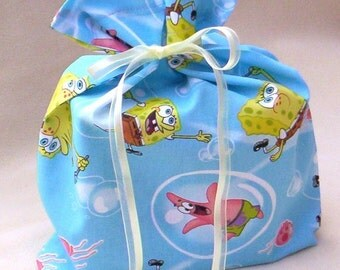 Medium Size Spongebob Ecofriendly Fabric Gift Bag