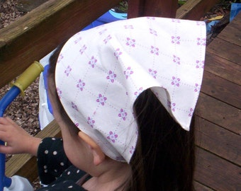 Mauve On Cream Colored Girls Head Scarf