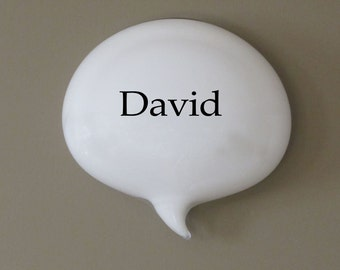 David Glass Word Balloons Conversation PIeces Custom Names Personalized