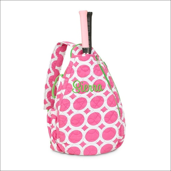 Items similar to Personalized Quilted Tennis Racquet Bag ...