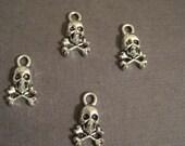 Last Set of 15 skulls with crossbones charms