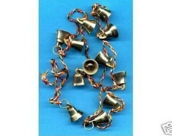 12 large, brass, fairy bells which are 20mm,  belly dance, feng shui