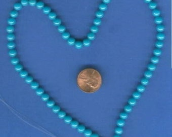 """16"""" Strand of 6mm Mt. Jade Beads: Turquoise"""