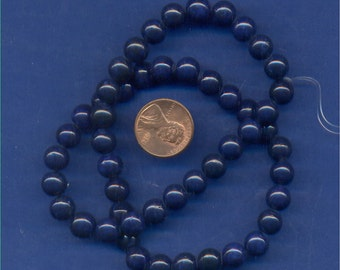 "16"" Strand 8mm Fossil Beads:  Navy"