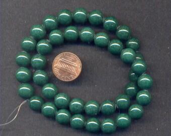 "16"" Strand of 10mm Mt. Jade Beads: Green"