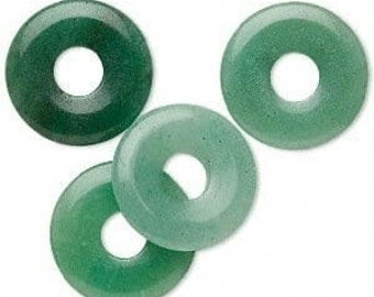 "16"" Strand of 25mm Donut Beads:  Aventurine"