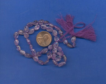 15 Inch Strand of Amethyst 8mm Oval Beads