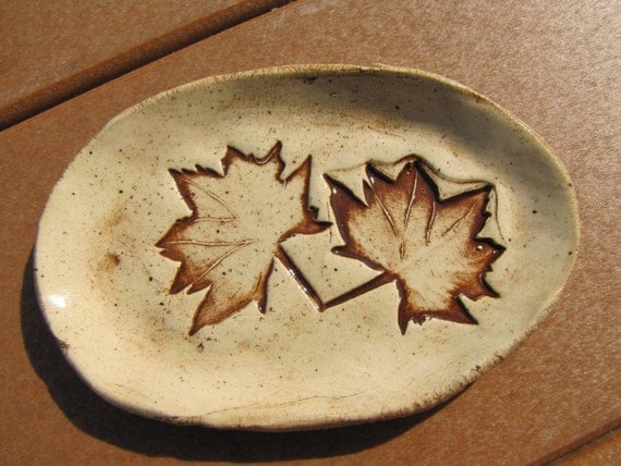 Nature Leaf- Pottery Soap Dishes, Trinket Tray