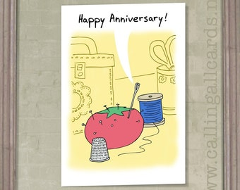 Needles - Anniversary Card for Parents