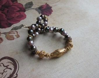 Fair Maiden - Freshwater Pearls and 24K Vermeil Bracelet