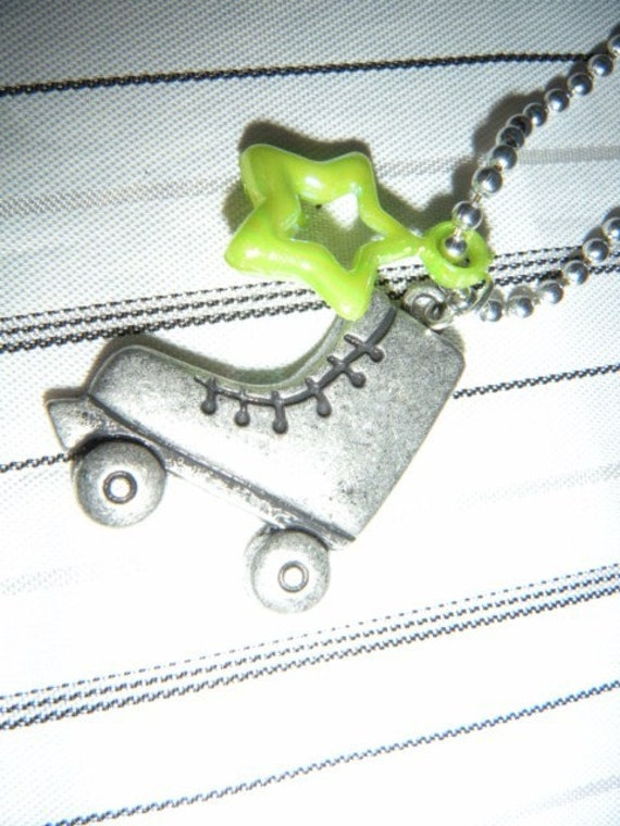 Rollerskate Ball Chain Necklace Roller Skate