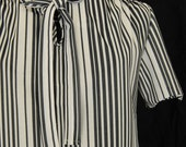Black and White 70s Dress