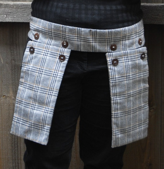Plaid Holster Pocket - adjustable size