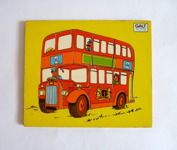 1960s Galt Toys Wooden Jigsaw Puzzle