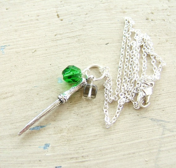 Slytherin Wand Pendant