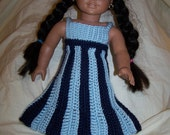 Sale! Pattern 12 Fits American Girl or Similar Sized Doll / 18 inch Doll Striped Dress