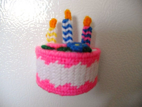 Birthday Cake with Candles Magnet