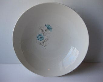 Vintage Taylor Smith Taylor Boutonniere Aqua Pink Serving Bowl