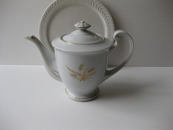 Vintage Hakusan China Golden Wheat Teapot