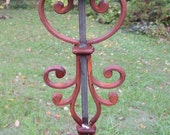 Reserve Listing for Susan - Birdhouse or Bird Feeder Stand of welded steel and cast-iron