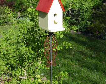 Birdhouse or Bird Feeder Stand of welded steel and cast-iron