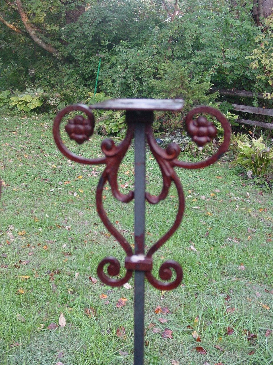 Birdhouse Or Bird Feeder Stand Of Welded Steel And Cast Iron