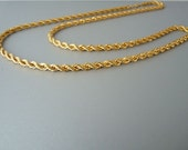 Vintage 80s monet chain necklace