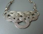 RESERVED FOR V Vintage silver tone knot necklace