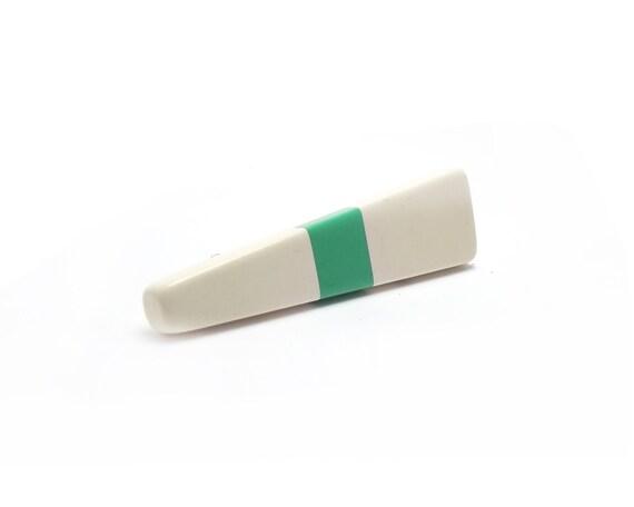 Spring Colorblock Mint and White Resin Brooch, Eighties taste