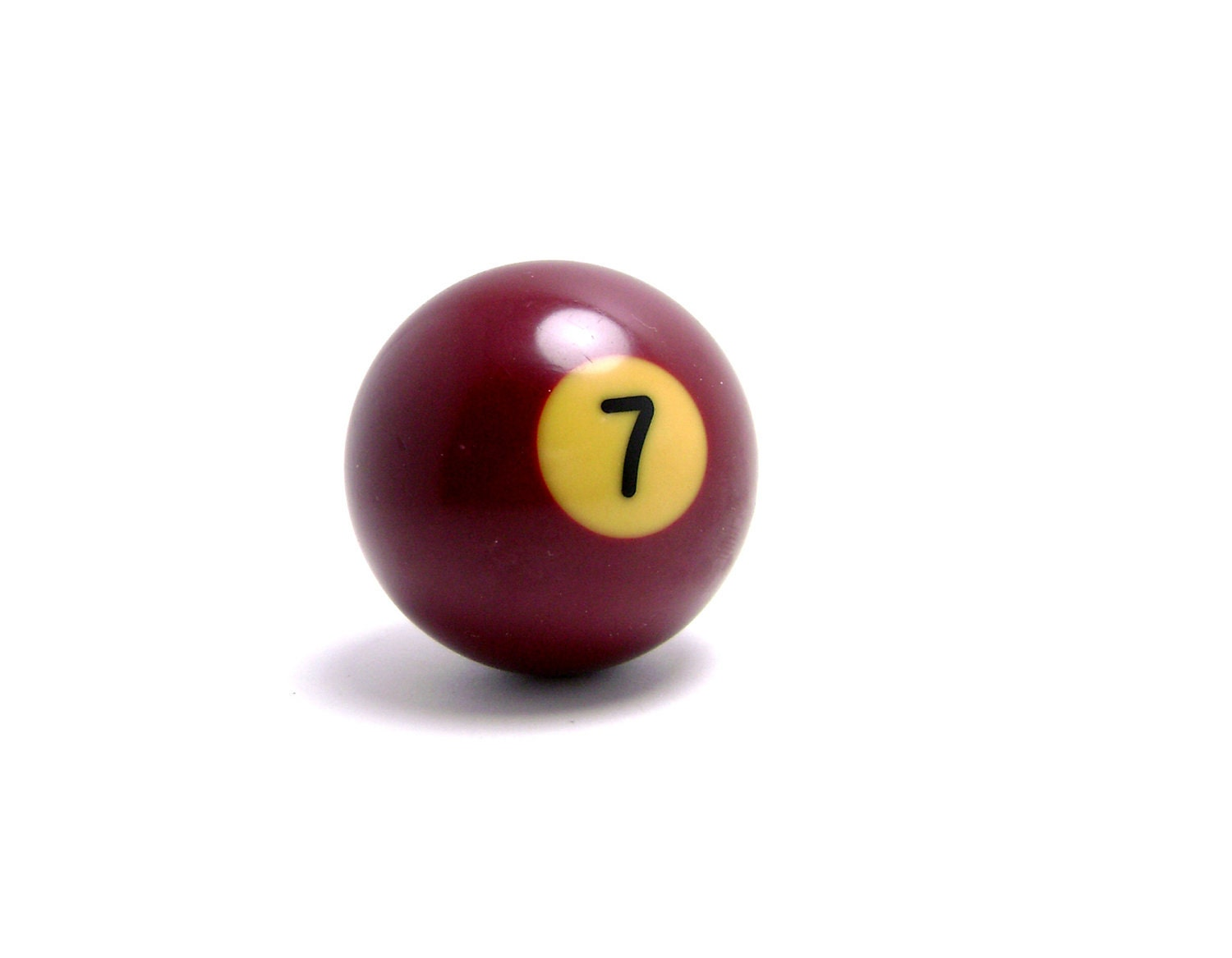 Number 7 Pool Ball Snooker Wine Red Burgundy