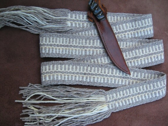 Woven Strap Natural Colors Wool