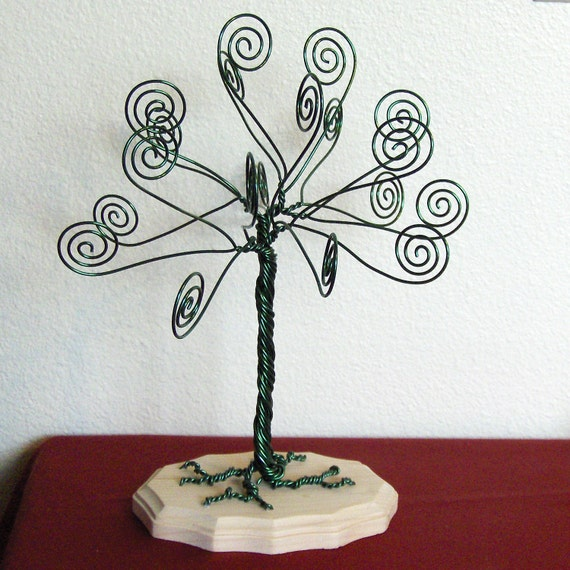 Kelly Green Wire Tree Card Holder Photo Display By