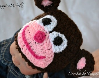 Boutique Crochet monkey hat girl newborn-24m.Photographie Props
