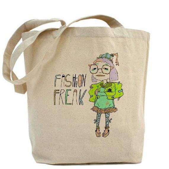 "Lactose Intoler-Art ""Fashion Freak"" Tote Bag"