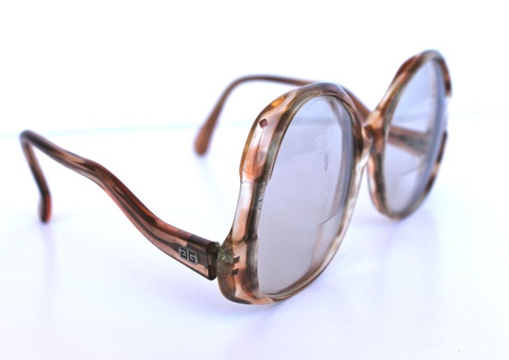 Vintage 1980s Givenchy Round Designer Tortoise Shell Glasses Frames
