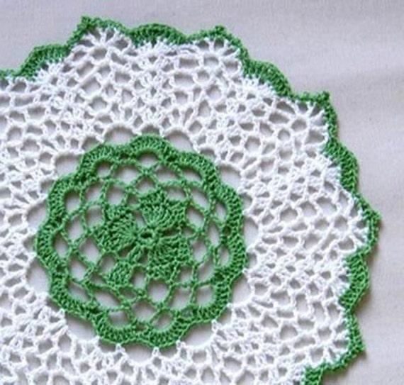 Irish Shamrock Crochet Lace Doily Clover Centerpiece St