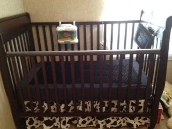 Minky Fitted Crib Sheet Black Chenille