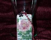 My Wild Irish Rose Domino Pendant