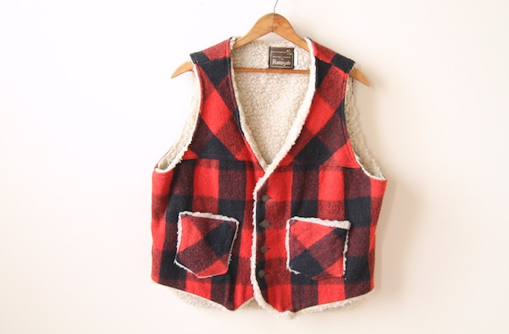 Vintage L Plaid Buffalo Vest
