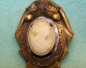 reserved for Michelle   CAMEO PENDANT Vintage or Antique