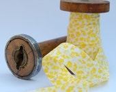 Lemon Drop Floral Bias Binding 3m