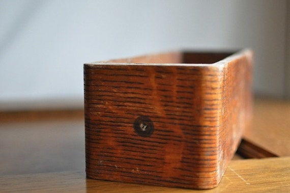 Vintage Wood Treadle Sewing Machine Drawer