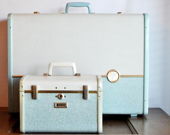 Vintage Samsonite Ultralite Two Tone Luggage Set
