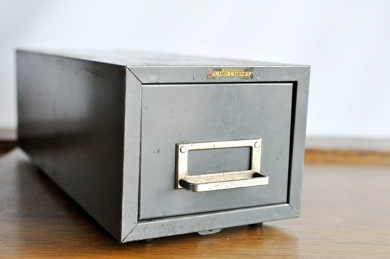 Vintage Steelmaster Card Cabinet