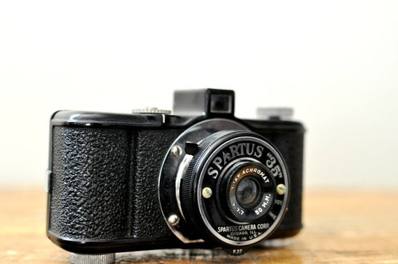 Vintage Spartus 35 Camera with Leather Case