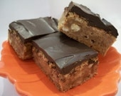 Chocolate Glazed Toffee Bars  1 Dozen