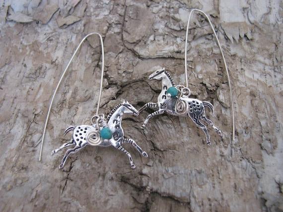 Handmade Horse Earrings SALE PRICE